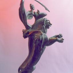 Манджушри он острым мечом разрубает облака сомнений