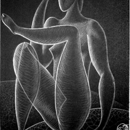 Сидящая фигура нога на ногу