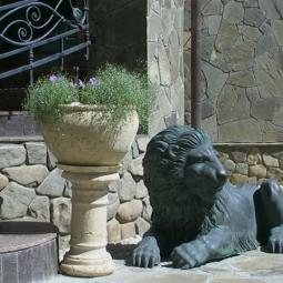 Лев, лежащий слева