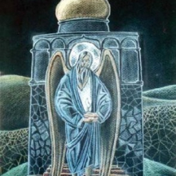 Святой старец со свечой