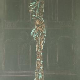 Дягилев. Постамент в виде стеллы (Русское искусство и костюм)