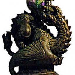 Модель хвостомордого дракона со светильником в пасти 2