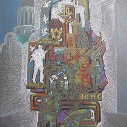 Эскиз монумента по мотивам детских рисунков 1