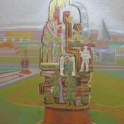 Эскиз монумента по мотивам детских рисунков 4