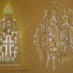 проекты Часовня с крестами и Святой город (со свечением изнутри)
