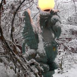 Химера светильник зимой