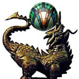 Химера (бронтозавр) 7 играет светильником