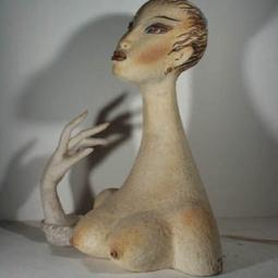 декоративная голова с длинной шеей светильник