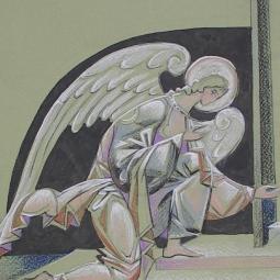 Ангел колено-приклоненный (эскиз)